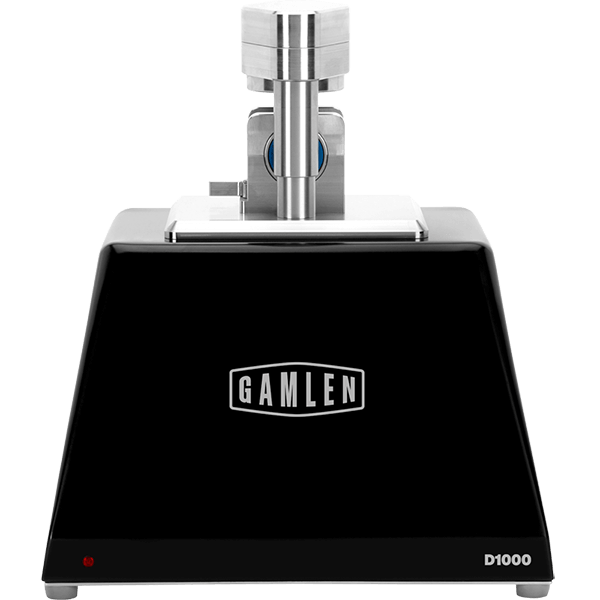 Gamlen D1000 - compacts tablets to a set force or thickness, then measures the force required to detach and eject the tablets
