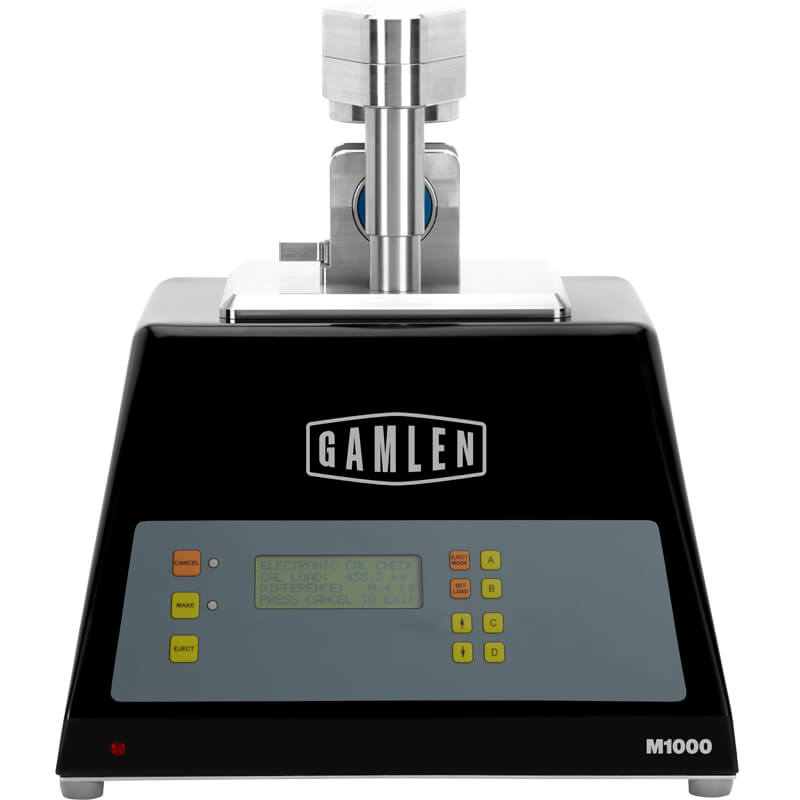 Gamlen M1000 - A portable benchtop tablet press for the small scale manufacture of custom tablets